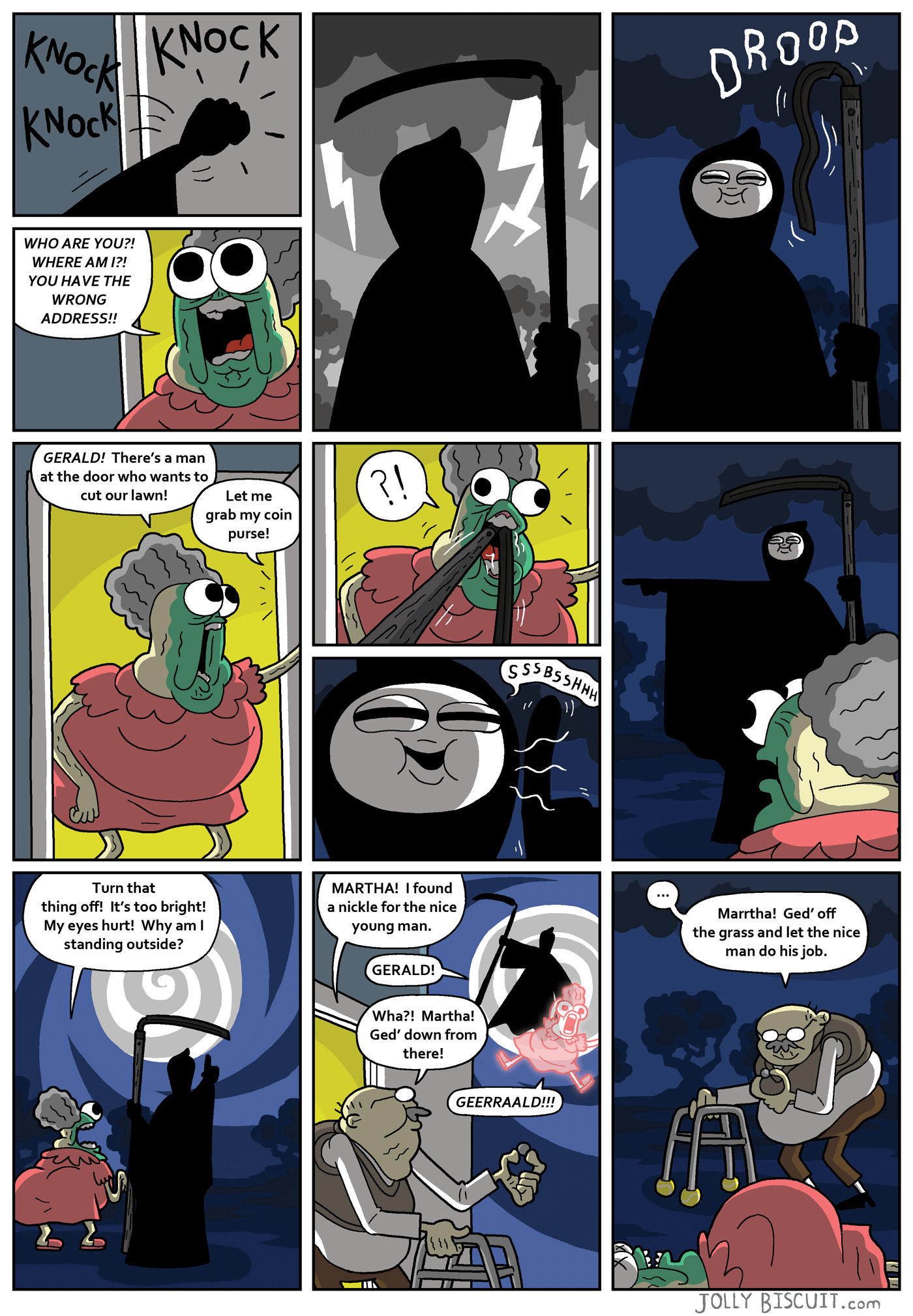 Mr Death's reaping services